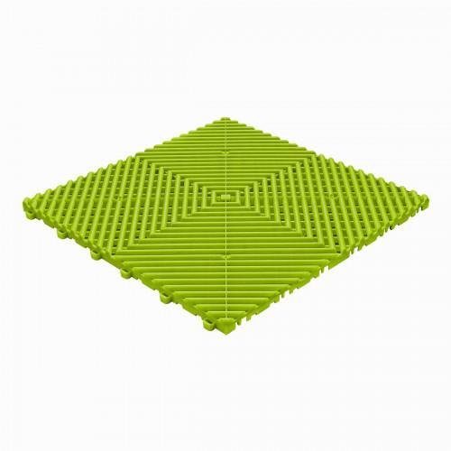 Garagevloer-kunststof-open ribben-structuur-rond Kleur: limette