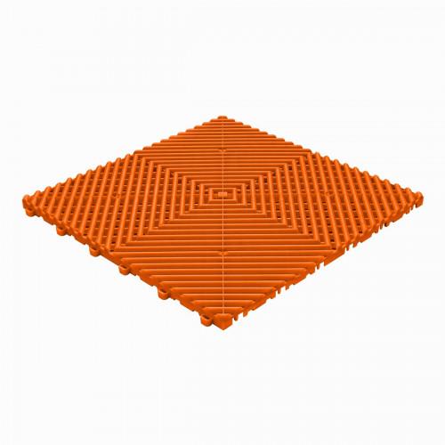 Garagevloer-kunststof-open ribben-structuur-rond Kleur: oranje