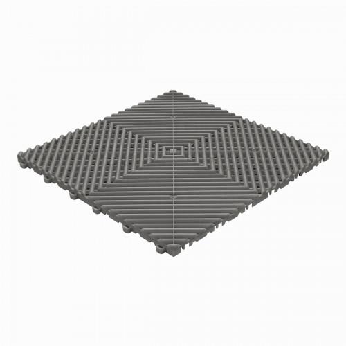 Garagevloer-kunststof-open ribben-structuur-rond Kleur: donkergrijs