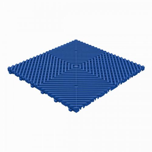 Garagevloer-kunststof-open ribben-structuur-rond Kleur: reflex blauw