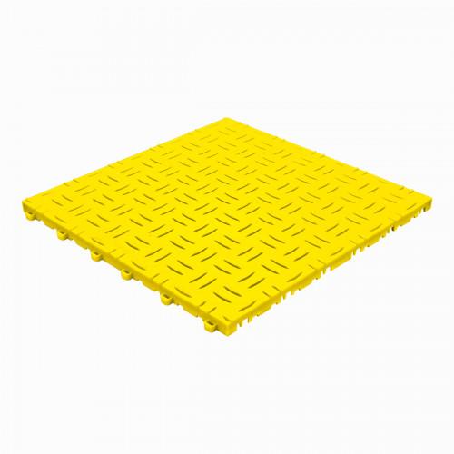 Garagevloer-kunststof-traanplaat-structuur-Kleur: geel