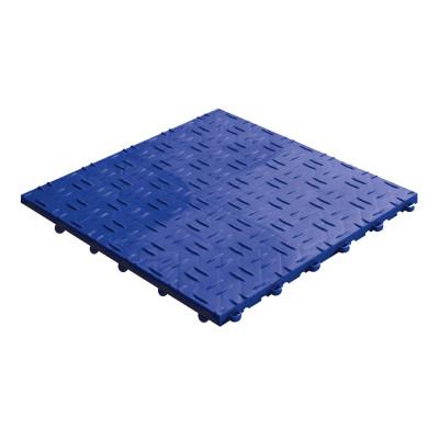 Garagevloer-kunststof-traanplaat-structuur-Kleur: blauw