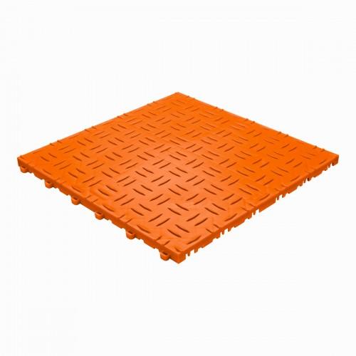 Garagevloer-kunststof-traanplaat-structuur-Kleur: oranje