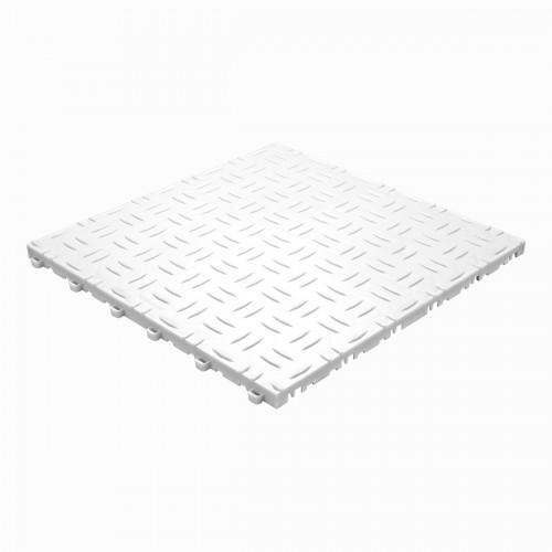 Garagevloer-kunststof-traanplaat-structuur-Kleur: wit