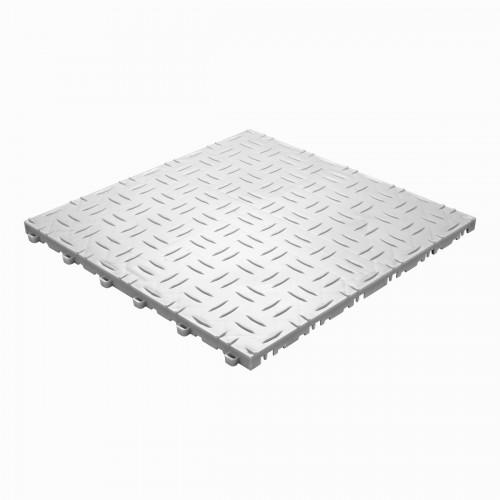 Garagevloer-kunststof-traanplaat-structuur-Kleur: wit-alu