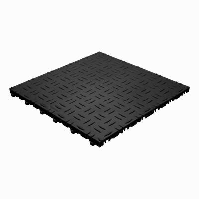 Garagevloer-kunststof-traanplaat-structuur-Kleur: zwart