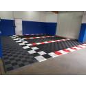 Garagevloer-kunststof-open ribben-structuur-vlak Kleur: zwart