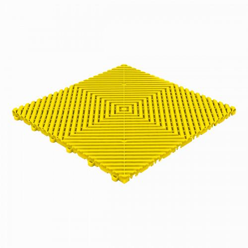 Garagevloer-kunststof-open ribben-structuur-vlak Kleur: geel