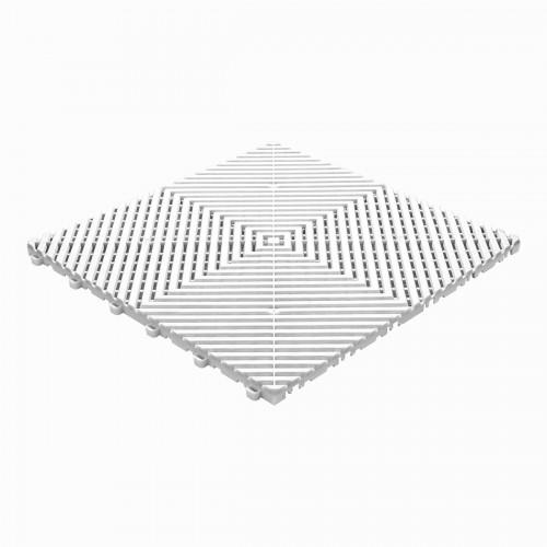 Garagevloer-kunststof-open ribben-structuur-vlak Kleur: wit