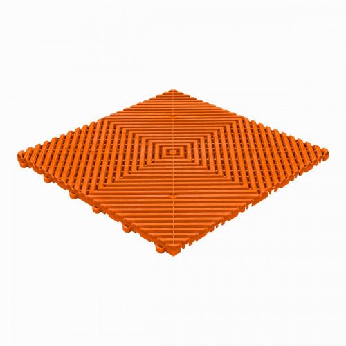 Garagevloer-kunststof-open ribben-structuur-vlak Kleur: oranje