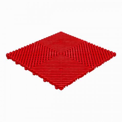 Garagevloer-kunststof-open ribben-structuur-vlak Kleur: rood