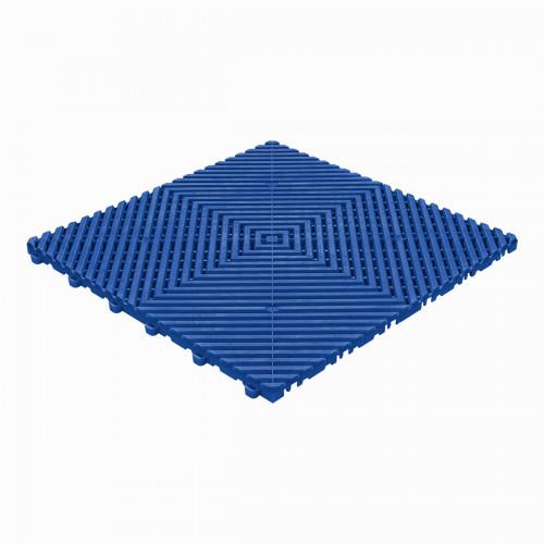 Garagevloer-kunststof-open ribben-structuur-vlak Kleur: reflexblauw