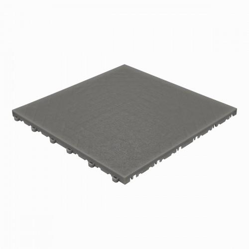 Garagevloer-kunststof- lederlook structuur-Kleur : donkergrijs