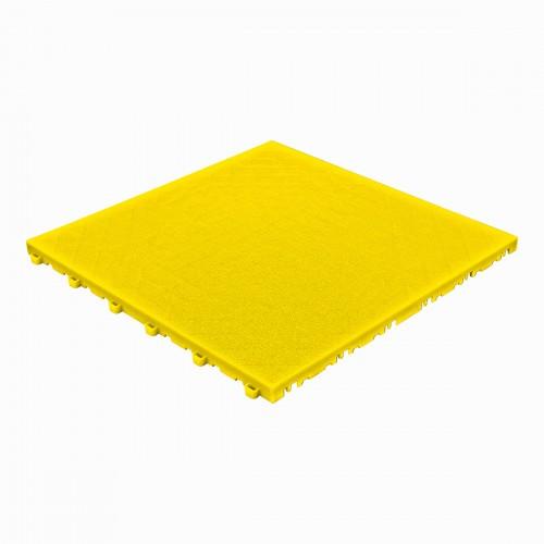 Garagevloer- kunststof- lederlook structuur-Kleur : geel