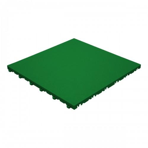 Garagevloer-kunststof- lederlook structuur-Kleur : groen