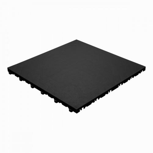 Garagevloer-kunststof- lederlook structuur-Kleur : zwart