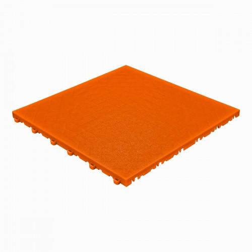 Garagevloer-kunststof- lederlook structuur-Kleur :oranje