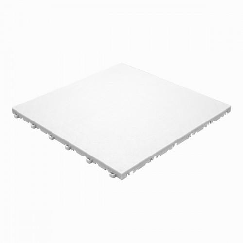Garagevloer-kunststof- lederlook structuur-Kleur : wit