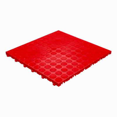 Garagevloer-kunststof-noppen-structuur-Kleur: rood