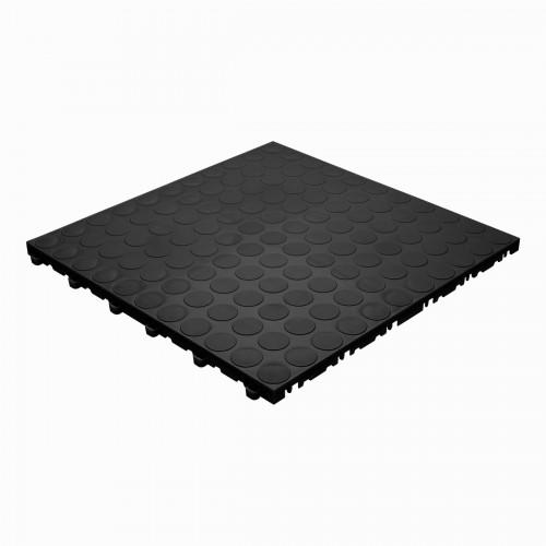 Garagevloer-kunststof-noppen-structuur-Kleur: zwart