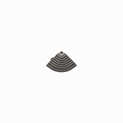 Afwerkrand-hoekstuk grijs-bruin