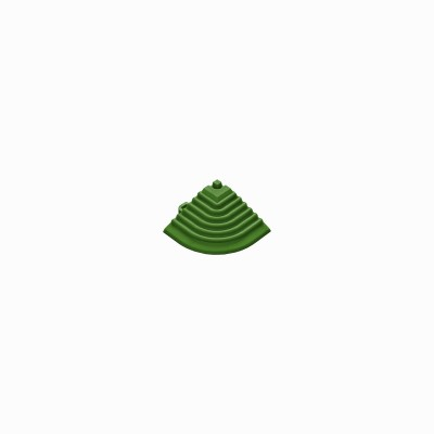 Afwerkrand-hoekstuk groen