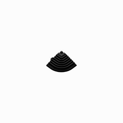 Afwerkrand-hoekstuk zwart