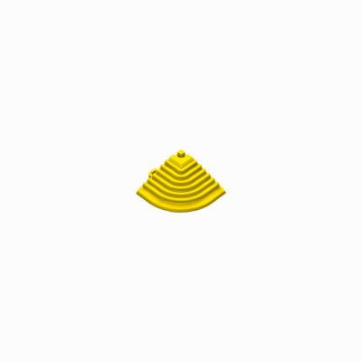 Afwerkrand-hoekstuk geel