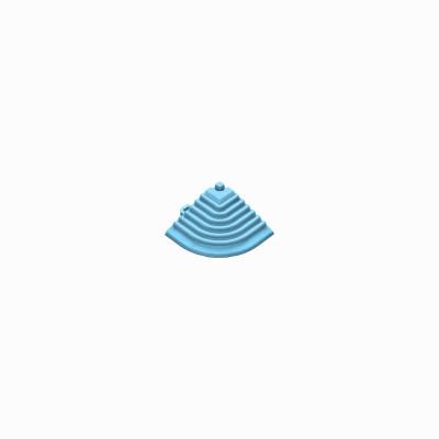 Afwerkrand-hoekstuk lichtblauw