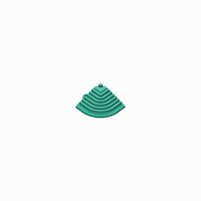 Afwerkrand-hoekstuk turquoise