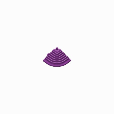 Afwerkrand-hoekstuk violet