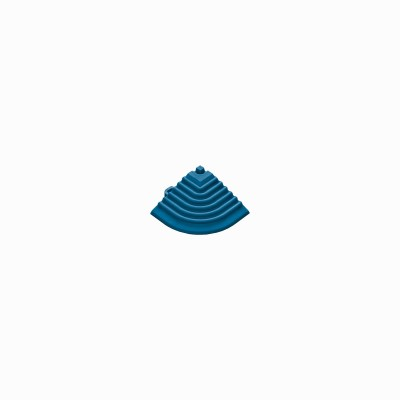 Afwerkrand-hoekstuk blauw