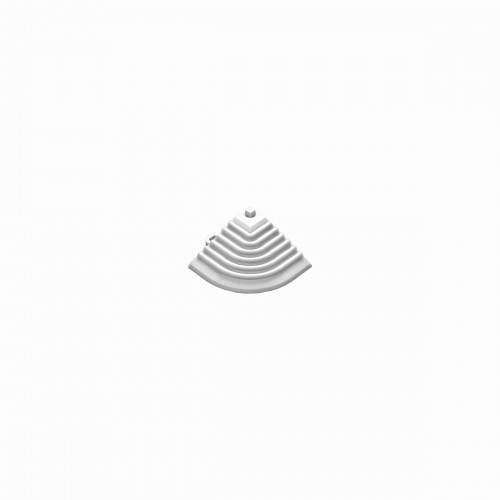Afwerkrand-hoekstuk wit