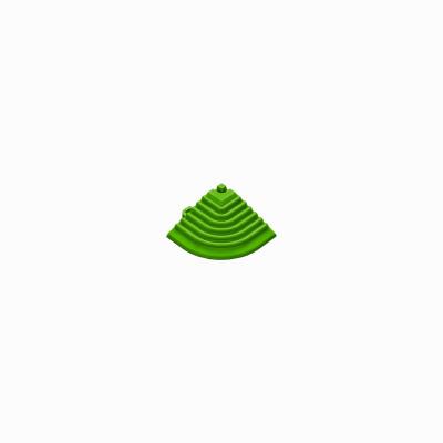 Afwerkrand-hoekstuk geel-groen